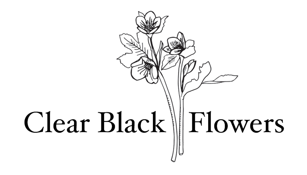 Clear Black Flowers