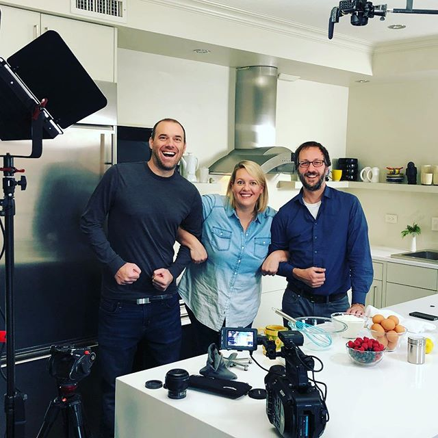 Having fun with @dinnerwithjulie filming some tasty recipes! #yycfood  #yycfilm