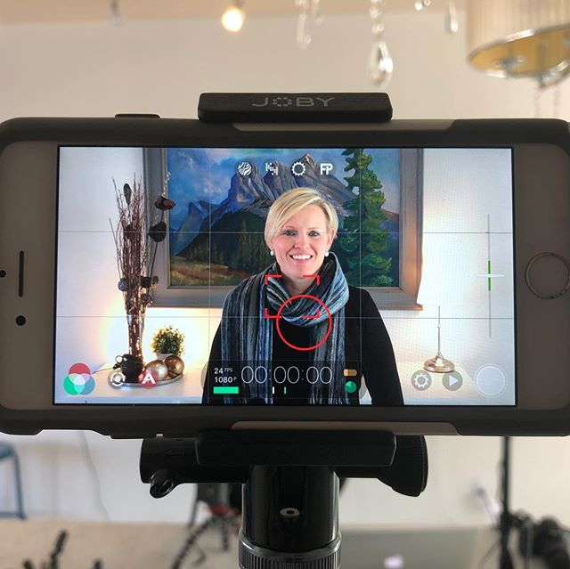 It's amazing what you can do with an iPhone and some inexpensive lighting! We had a great time helping @elevationmortgageyyc set up their DIY video studio today! #diyvideo #yycbusiness