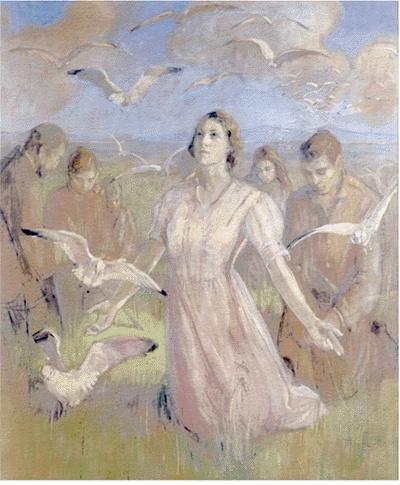 Miracle gulls Minerva Teichert Art