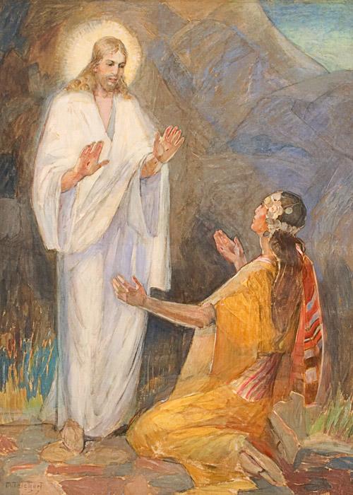 Jesus Minerva Teichert Art