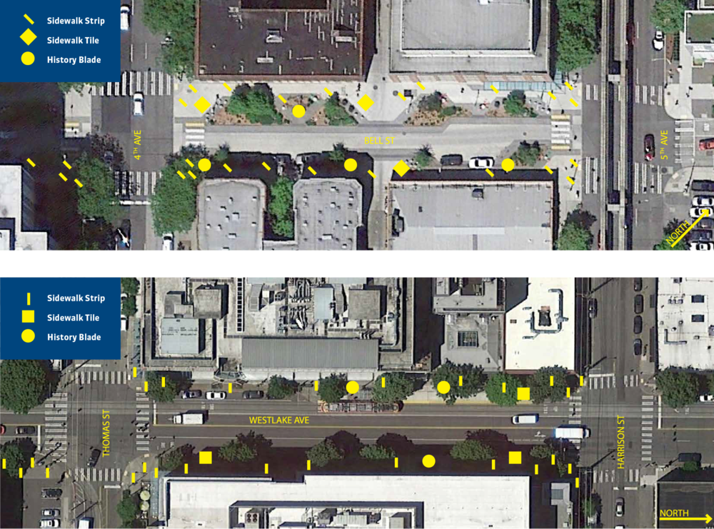 Bell Street and Westlake Avenue Test Site Example Trail Markers
