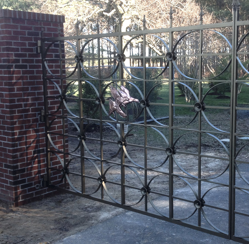 Driveway Gate with Copper Ducks.jpg
