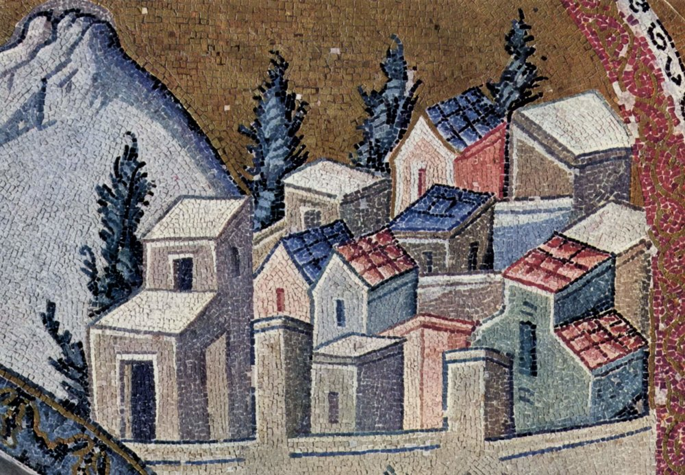Pictured: Sh*thole (Nazareth), in a mosaic from Istanbul, in the public domain, taken from Wikipedia.