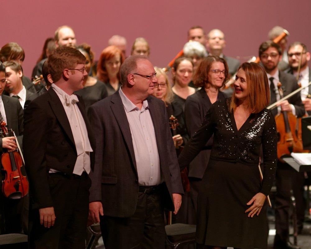 Daniel with his parents: cellist Susan Cafferty and composer Dr. Richard Maltz