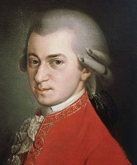 Painting of Wolfgang Amadeus Mozart