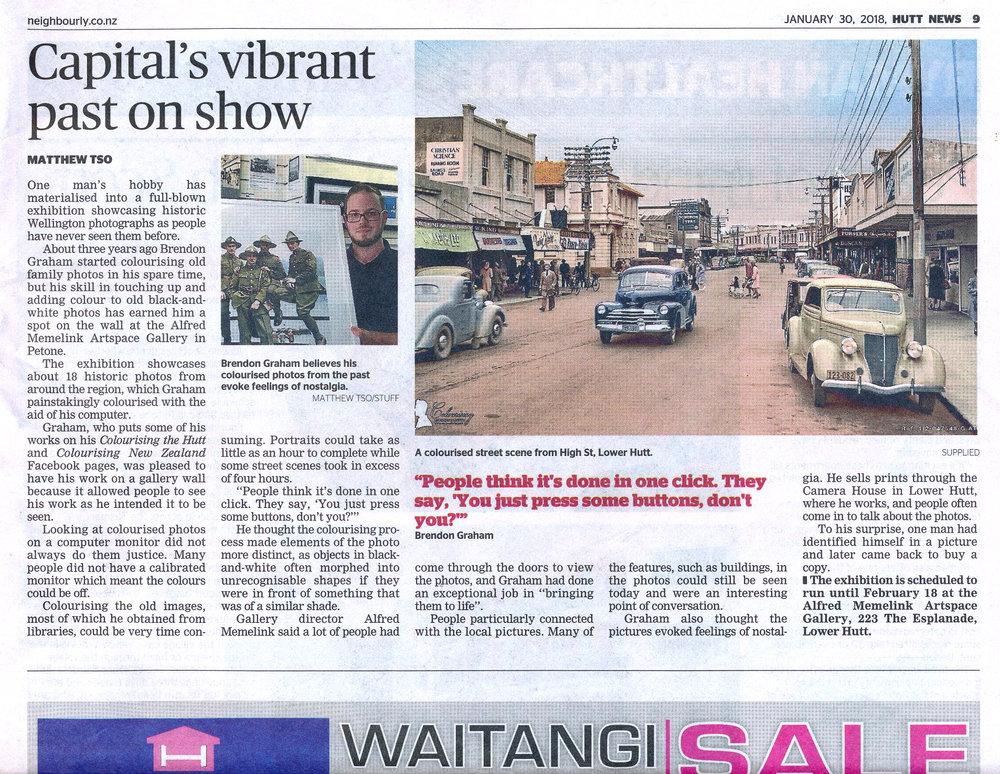 Hutt News -30th January 2018