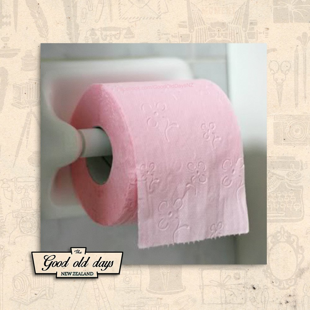 coloured toilet paper