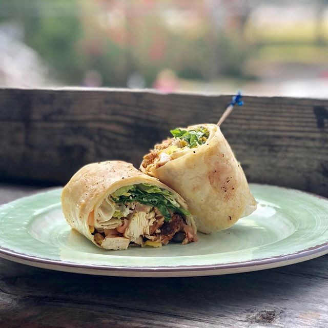 Today for our special we have turned one of our most popular salads into a wrap! The southwest chicken salad wrap! Served with jalapeño ranch on the side