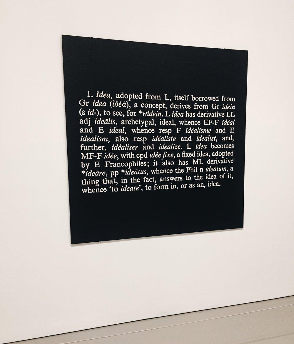 """Joseph Kosuth, 'Titled (Art as Idea as Idea) [idea]"""""""