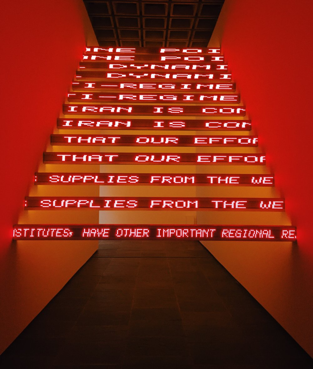 Jenny Holzer,  Red Yellow Looming