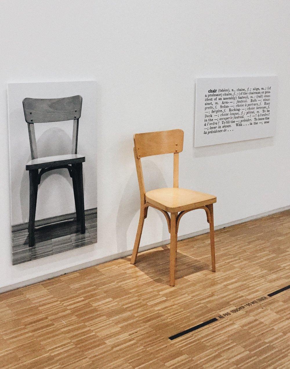Joseph Kosuth,  One and Three Chairs
