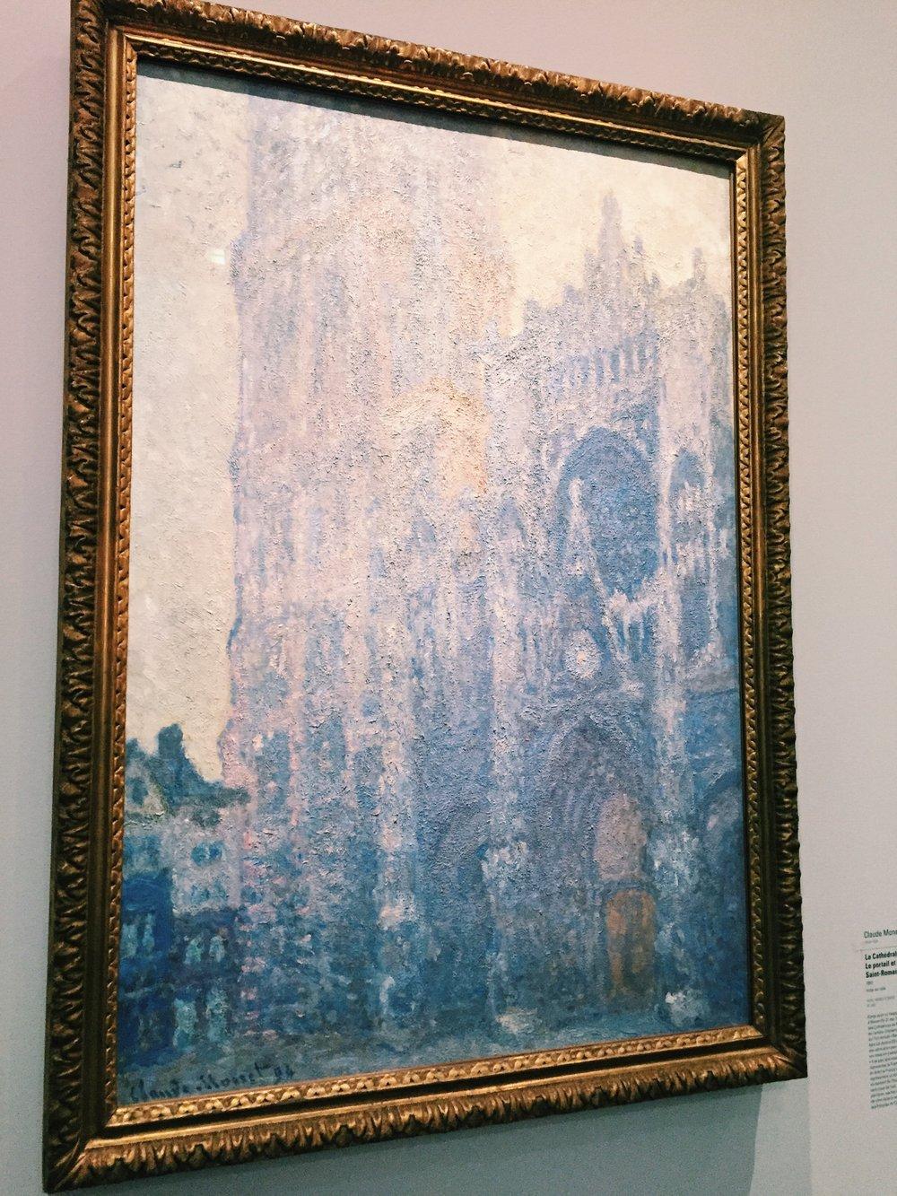 Claude Monet,  La Cathédrale de Rouen. Le portail et la tour Saint-Romain, effet du matin