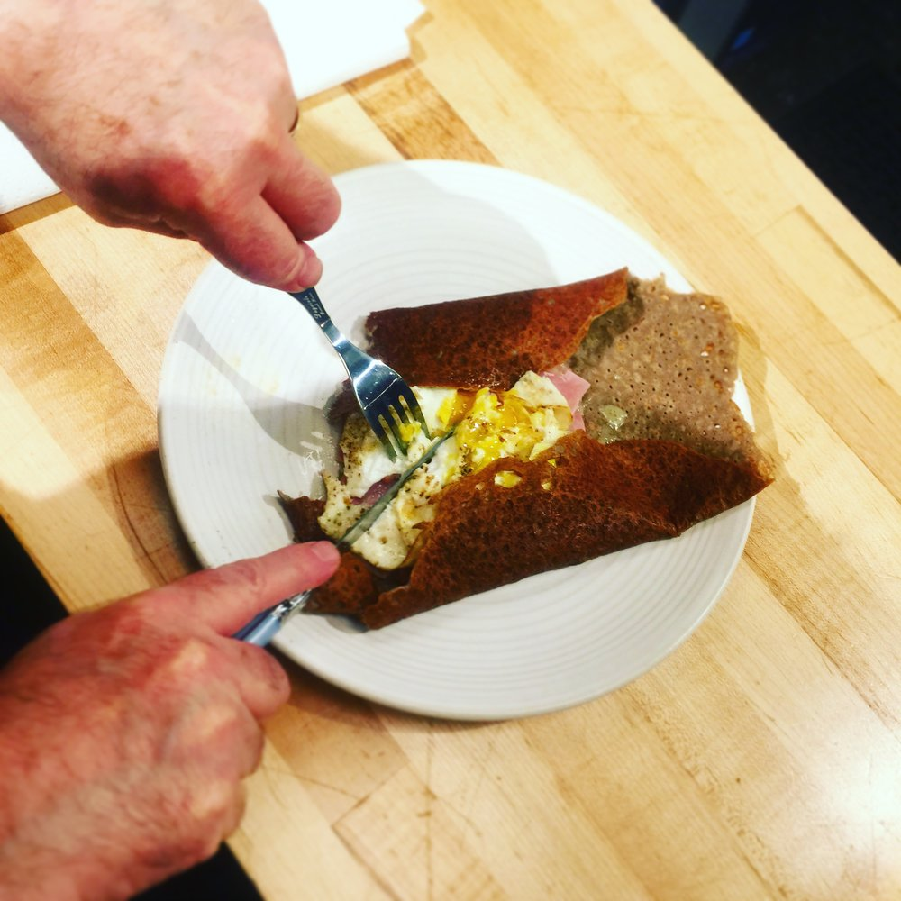 Our crêpes are part of a Complète breakfast, lunch, or early dinner!