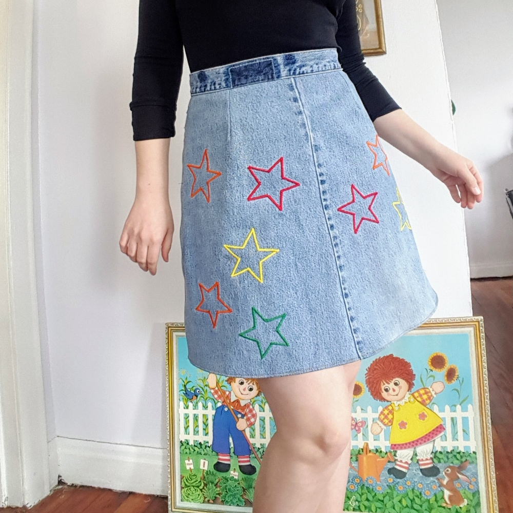 A Star Skirt in Progress