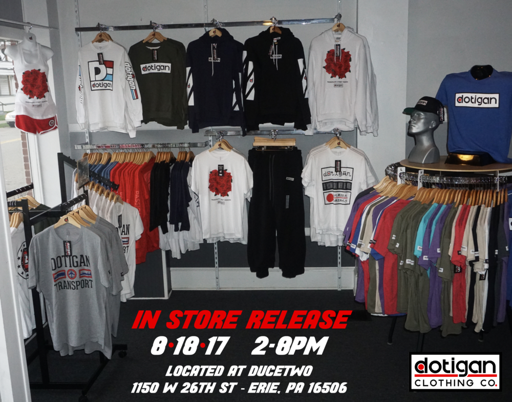 Dotigan Clothing Co In-store Lauch