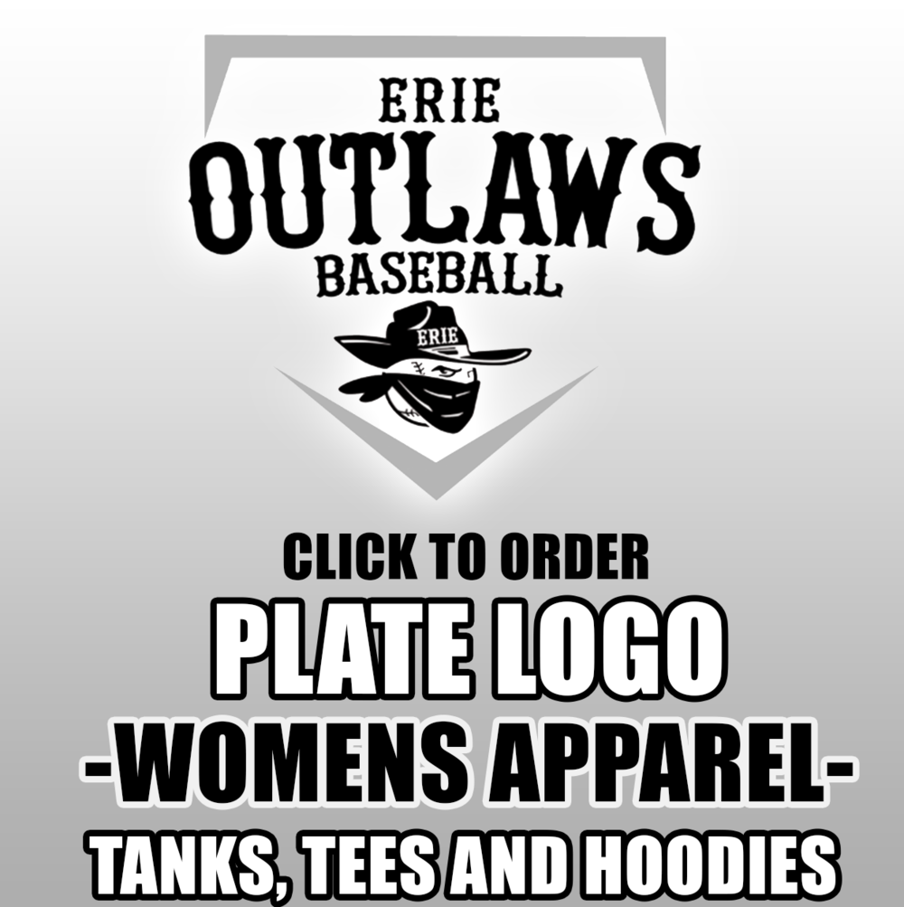 Outlaws Plate Logo - Womens