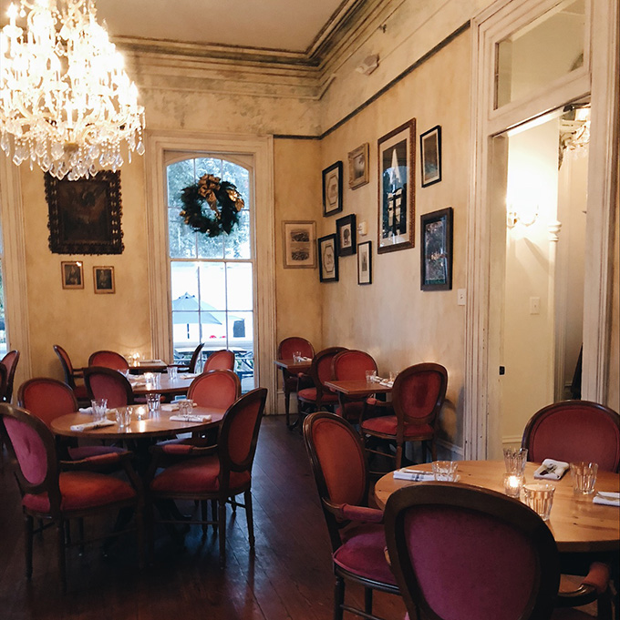 A charming restaurant in an old mansion on Magazine St.