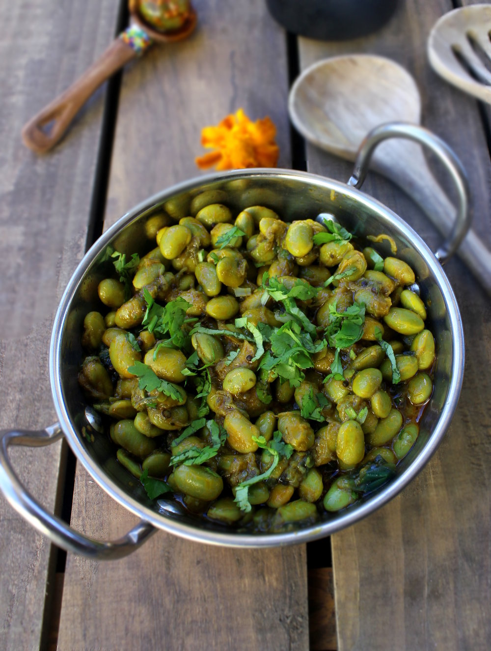 Shelled soybean/edamame nu shaak — Karishma Doolabh