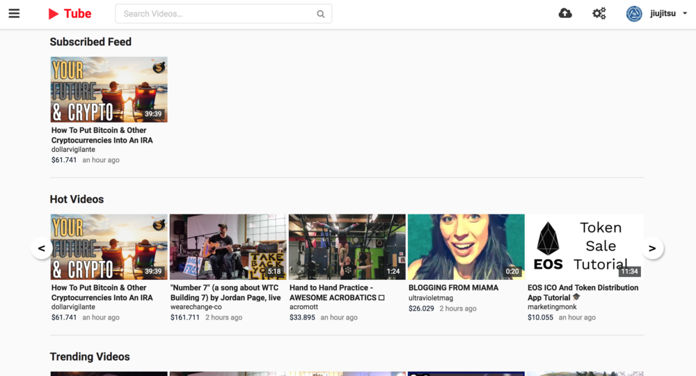d.tube - d.tube is video sharing on the STEEM blockchain. It feels like YouTube.