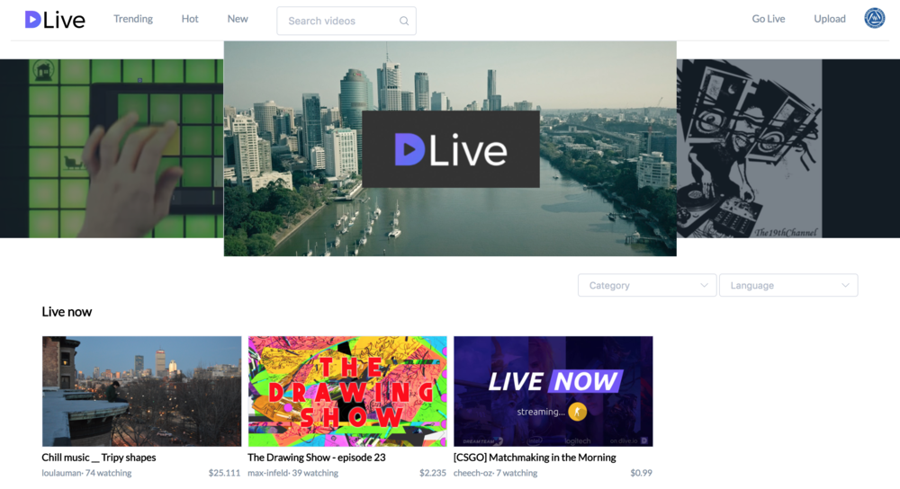 dlive.io - dlive.io is live streaming on the STEEM blockchain.