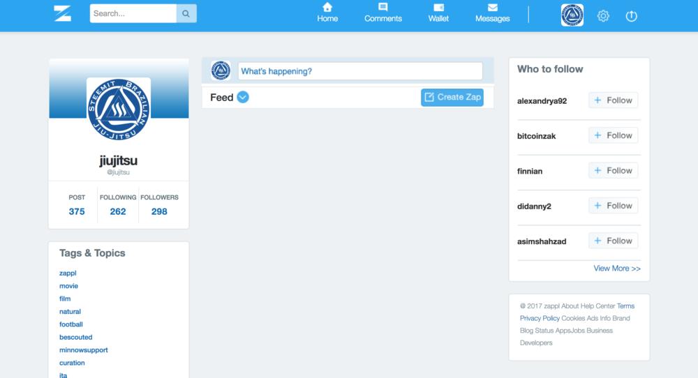 zappl.com - zappl.com is micro blogging on the STEEM blockchain. It feels like Twitter.