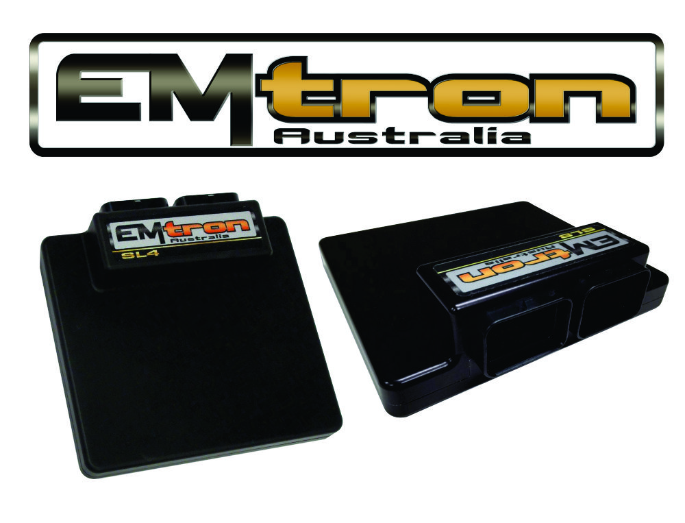 Emtron SL Series - The Emtron SL Series is built upon the outstanding foundation of the KV Series and features the same processing power and logging capacity. This lightweight package is housed in a Billet Aluminium Enclosure and features a 68pin connector system which is still a very high I/O count ECU.Emtron's SL4 and SL8 are wire in ECU's with extreme flexibility. These ECU's will support up to 4 Channels on the SL4and 8 Channels on the SL8 of fully sequential Fuel and Ignition. Every SL ECU is housed in a durable billet Aluminium enclosure and includes up to 16Mb permanent memory for on board logging and oscilloscope function, DBW control, digital Knock control, Ethernet communications to name a few.If you would like to order an Emtron System please contact us directly for pricing.