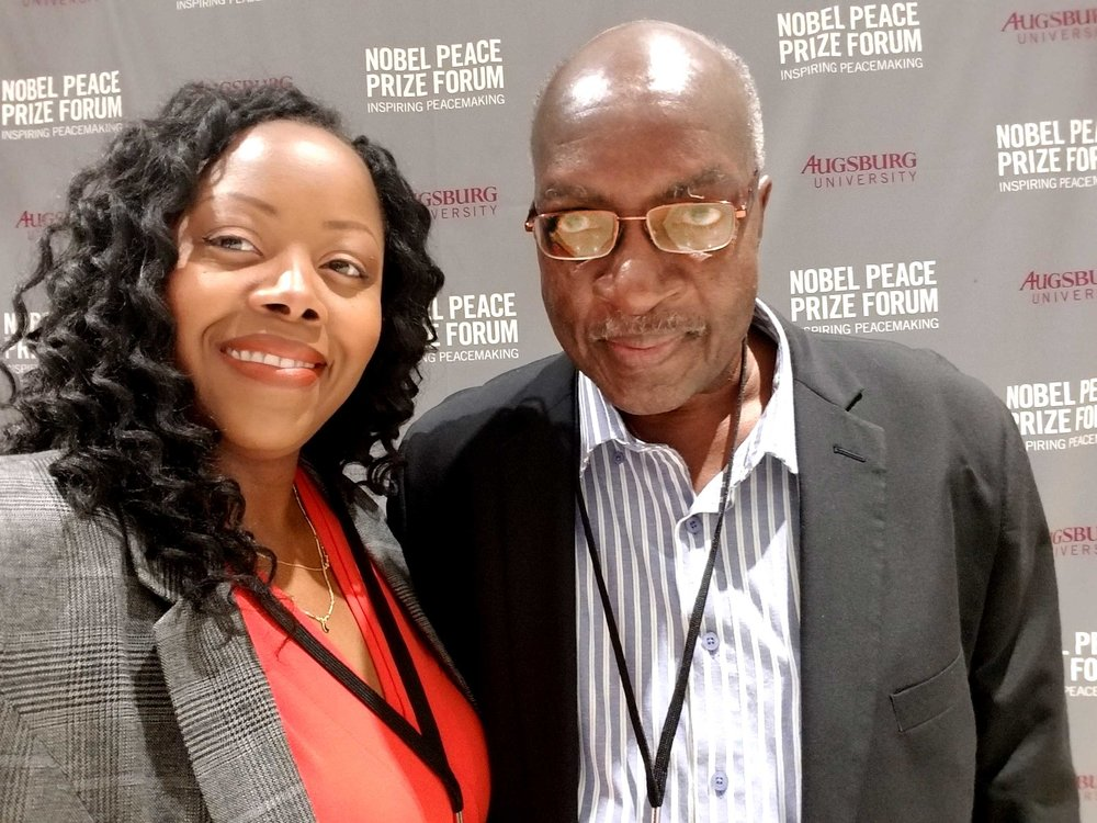 Nobel Peace Prize with Dad (Director of the Guyana Foreign Service Institute and former Ambassador to China)