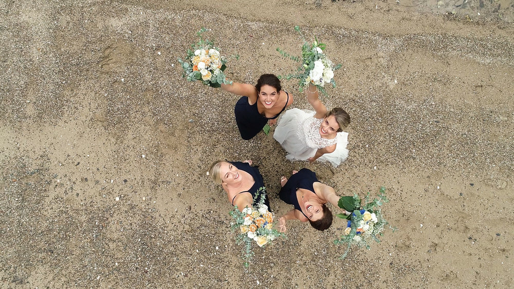Wedding Drone Photography | up+up | Bridal Party