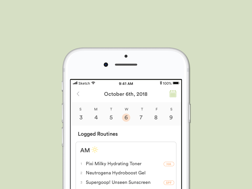 SKNCE - Designing a delightful skincare routine tracking app for everyone.