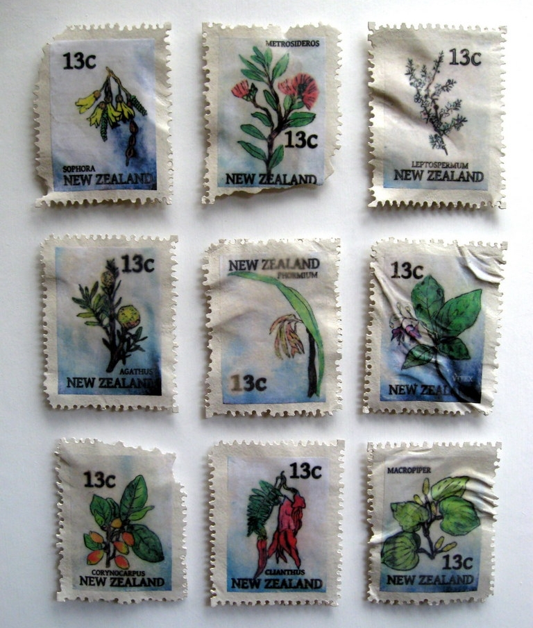 Stamp Sculptures. Set of 9. Liz McAuliffe (2).JPG