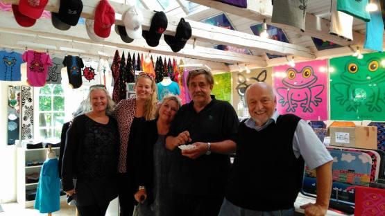 With Bo Bendixen in his shop
