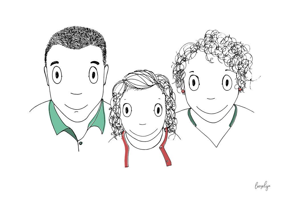 Liezelijnfamilieportret