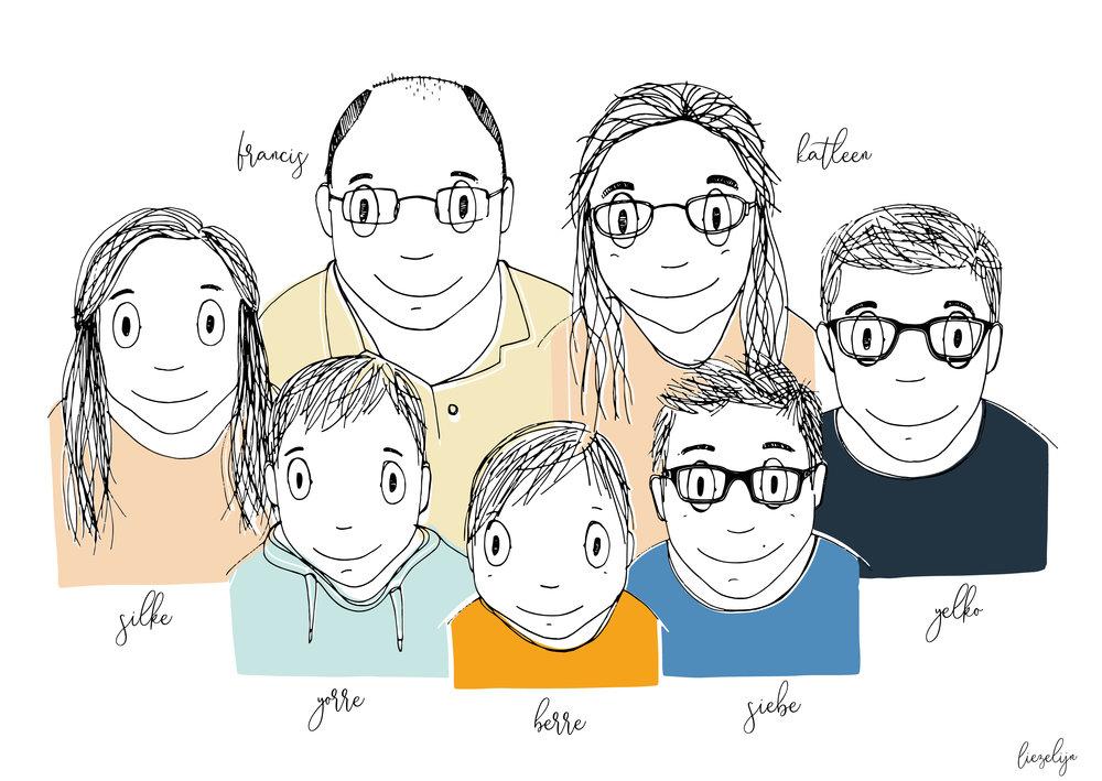 Liezelijnfamilieportretgroot