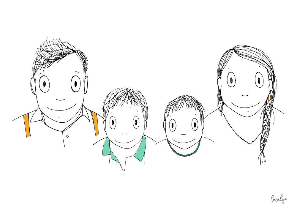 Liezelijnfamilieportretfijn