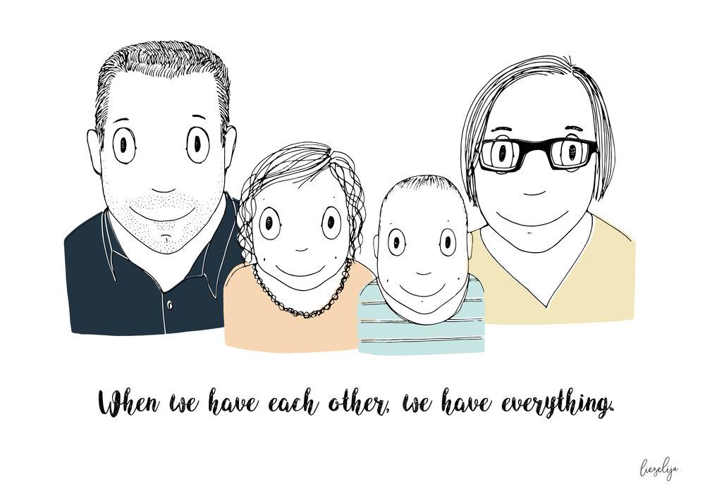Liezelijnfamilieportrettekst
