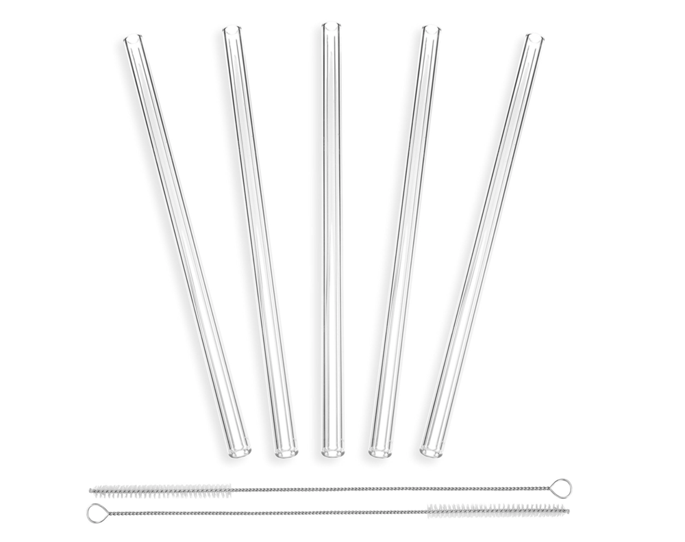 Glass Straws x 5 - £9.95