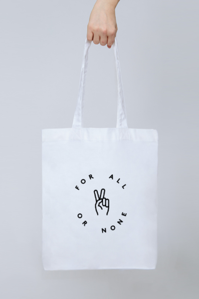 For All Tote - Part of the brand new Blue Ollis collection.We use certified organic fabrics and renewable energy in our supply chain. Order yours before 3pm for fast delivery.