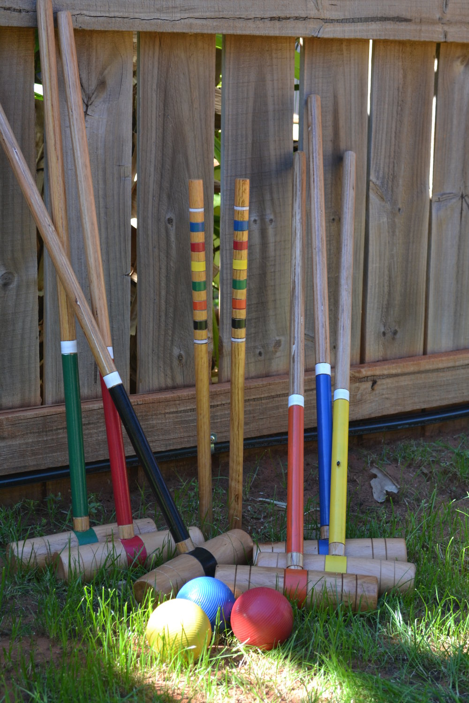 Croquet set: $30 -
