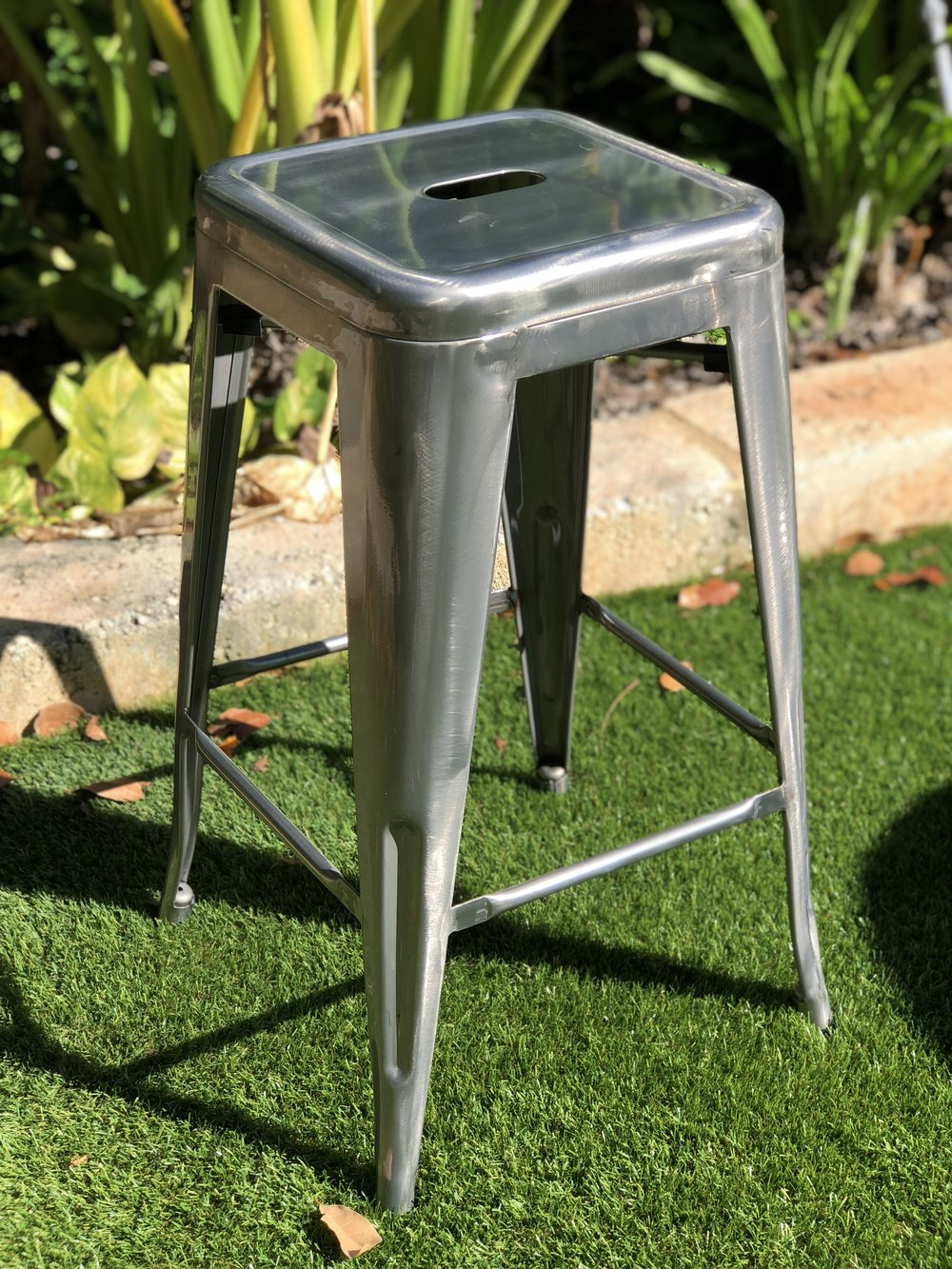 Grey Stools: $10 each - Match with our wine barrels