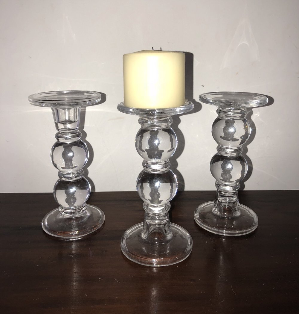 Candle holders x 8: $20 (for set) -