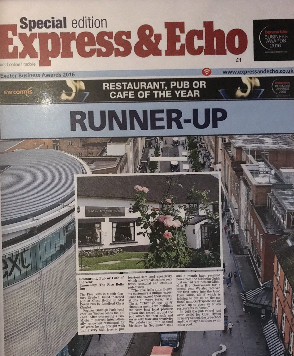 Express & Echo Pub of the Year 2016 runner up