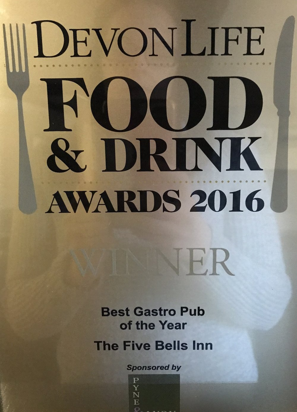Devon Life Food & Drink Awards 2016 Best Gastro Pub of the Year