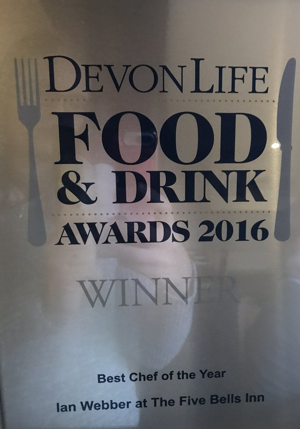 Devon Life Food and Drink Awards 2016 Best Chef of the Year