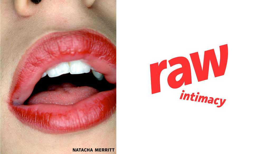 """The """"lips"""" quickly became the promo image of Merritt's new website. In this particular pairing, I imagined the words coming out of the model's mouth."""