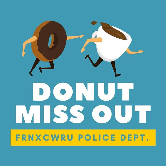 We are excited to announce our new partnership with the CWRU Police Department! Every week, officers will be helping us by recovering donuts and redistributing them to local soup kitchens. Thank you to everyone who helped bring this project together! #cwru #foodrecovery