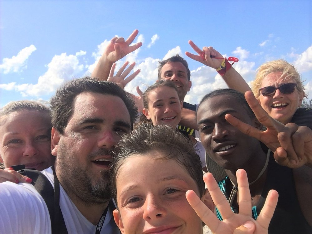 "Franchescio ""Chestnut"" Duncombe leading a Group Tour on Grand Bahama Island"