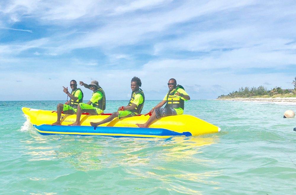 The StephJETS Crew & Captains on Bertha's Blue Dinghy Beach