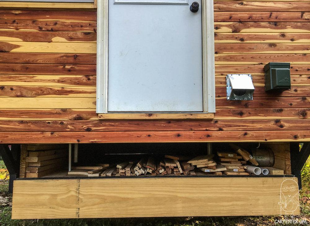 Cozy Rosie - Storage space between wheel wells