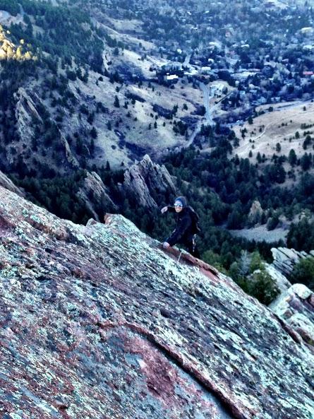 Escalando en Boulder, Colorado. Otra de mis grandes pasiones, además de la matemática.